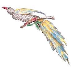 Reja Enameled Bird Pin