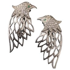 Elegant Eagle Head Dress Clips