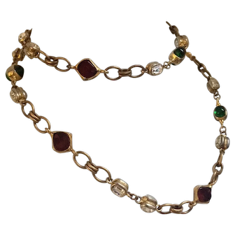 Chanel Gripoix Link Necklace - 1970's