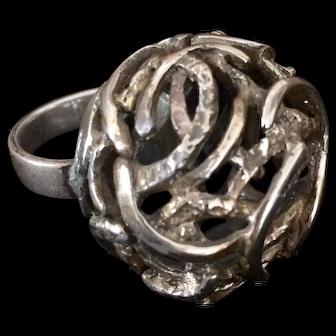 Mid-century Tortolani Statement Ring