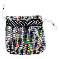 Pop/Op Art Beaded Pouch Purse