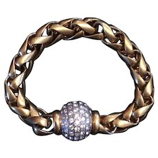 Vintage Fiocchi Italy Chain and Crystal Ball Bracelet