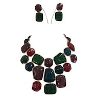 Kenneth Jay Lane Bib Necklace and Earring Set