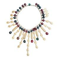 Gorgeous 1930's Elaborate Bib Necklace