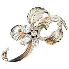 Jaw Dropping 1940's Flower Brooch