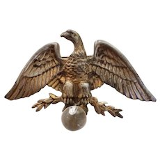 Eagle Perched on Jelly Ball Pin