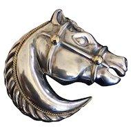 Designer Sterling Horse Head Buckle