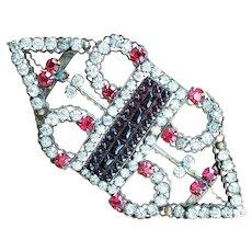 Bejeweled Victorian Sash Pin - 50%