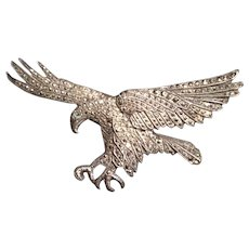 Silver and Marcasite Eagle Pin