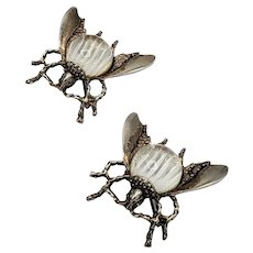 Pair of Jelly Belly Bug - Wasp - Fly Brooches