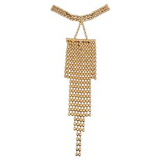 Modernist Golden Long Drop Necklace