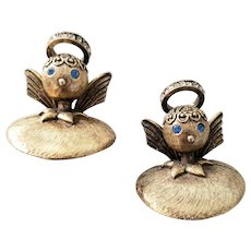 Tortolani Good Angel Pair of Pins Book Pieces
