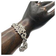 Art Deco Pavé Floral Bracelet