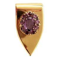 Coro Purple Stone Dress Clip