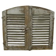 French Blue Shutters, Set of Two