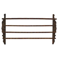 French Hanging Oak Plate Rack