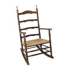 Dutch Rocking Chair with Rush Seat