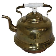 Brass and Copper Teapot