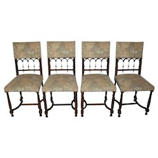 French Walnut Chairs/Set of Four