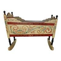 Dutch Hand Painted Cradle