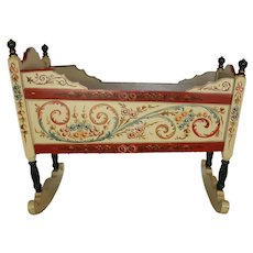 Dutch Hand Painted Cradle
