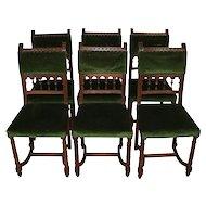 French Walnut Chairs/Set of Six