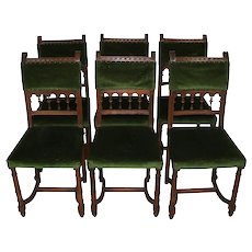 French Walnut Chairs/Set of Six