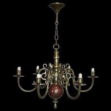 Dutch Brass Chandelier