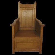 Rustic Dutch Oak Armchair