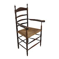 Ladder Back Armchair with Rush Seat