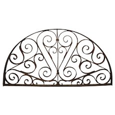 Wrought Iron Arched Transom Window Grill