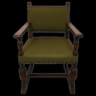 Green Upholstered Armchair