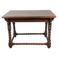Neo-Gothic Oak Table