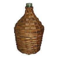 Wicker Demijohn Wine Bottle (Medium)