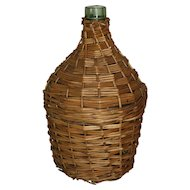 Wicker Demijohn Wine Bottle (Medium)