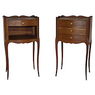 Pair of French Oak Nightstands