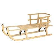 Vintage Dutch Wooden Sled