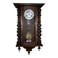 German Gerson Wintermantel Regulator Wall Clock