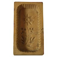 Retro Handcarved Wooden Butter Mold