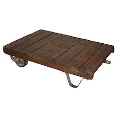 Industrial Flatbed Trolley with Two Wheels