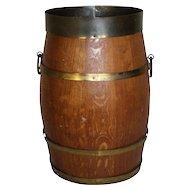 Dutch Open-Top Oak Barrel Bucket