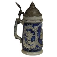 German Salt Glaze and Pewter Stein