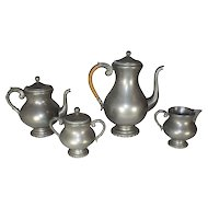 Four Piece Pewter Coffee/Tea Set
