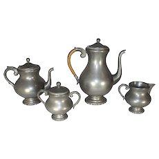 Four Piece Pewter Coffee/Tea Set