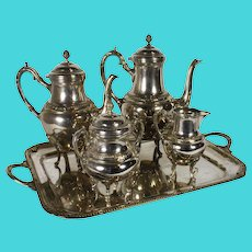 Silver Plated Coffee and Tea Set/Five Piece