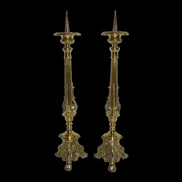 Brass Candlesticks, Set of Two
