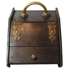 Coal Box/Ash Box/ Scuttle Bin with Scoop and Metal Tray