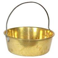 Shallow Brass Bucket