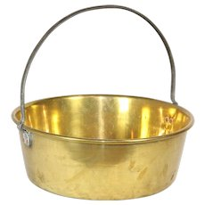 Shallow Brass Bucket
