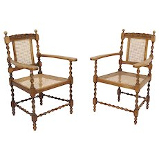 Cane Armchairs Set of Two